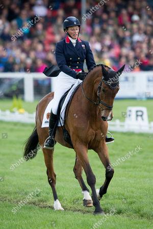 Mary King (GBR) & Imperial Cavalier - Dressage - CCI4* - Mitsubishi Motors Badminton Horse Trials 2014 - Badminton, Gloucestershire, United Kingdom - 09 May 2014