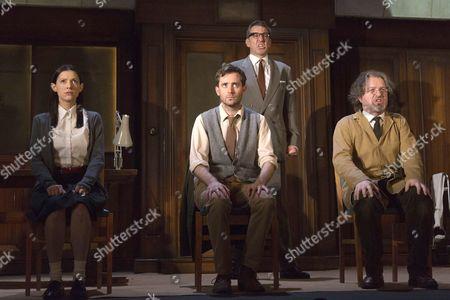 Hara Yannas as Julia, Sam Crane as Winston; Tim Dutton as O'Brien and Stephen Fewell as Charrington