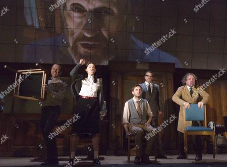 Christopher Patrick Nolan as Martin, Hara Yannas as Julia, Sam Crane as Winston, Tim Dutton as O'Brien and Stephen Fewell as Charrington