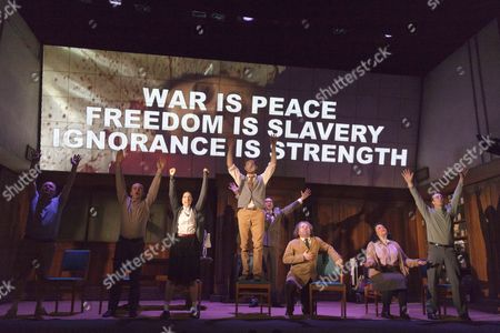 Editorial photo of '1984' by George Orwell at the Playhouse Theatre, London, Britain - 08 May 2014