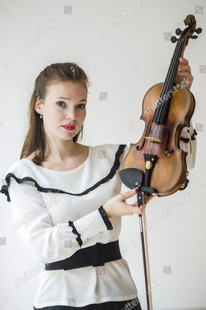 Violinist Tamsin Waley-Cohen with the Kreutzer Stradivarius violin