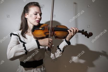 Stock Photo of Violinist Tamsin Waley-Cohen playing the Kreutzer Stradivarius violin