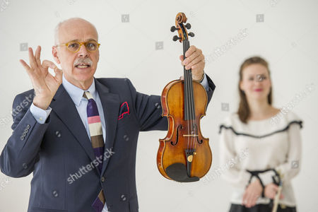 Editorial photo of Kreutzer Stradivarius violin sale preview at Christie's, London, Britain - 09 May 2014