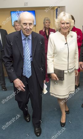Stock Picture of Norman Tebbit and Camilla Duchess of Cornwall at the Nuffield Orthopaedic Centre Charity