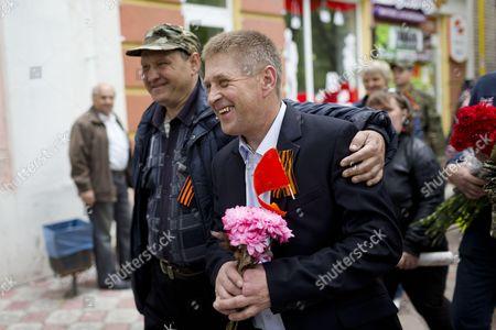 Editorial image of Victory Day Celebrations, Sloviansk, Ukraine - 09 May 2014