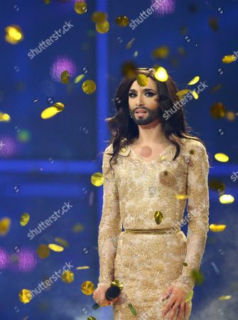 Conchita Wurst of Austria wins the Eurovision Song Contest 2014 and performs a second time.