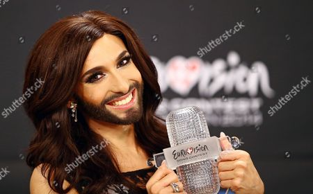 Conchita Wurst attends a press conference