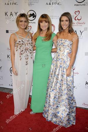 Lauren Parsekian, Jane Seymour and Molly Thompson