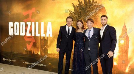 Bryan Cranston, Elizabeth Olsen, Gareth Edwards and Aaron Taylor-Johnson