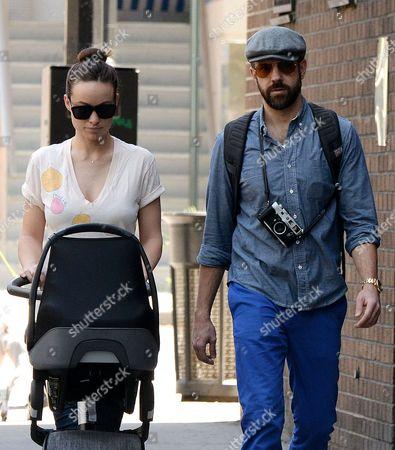 Olivia Wilde and Jason Sudeikis take Otis Sudeikis for a stroll in Manhattan