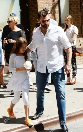 Editorial image of Hugh Jackman and family out and about, New York, America - 11 May 2014