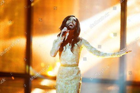Conchita Wurst representing Austria performs 'Rise Like a Phoenix'