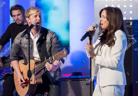 Kian Egan and Jodi Albert
