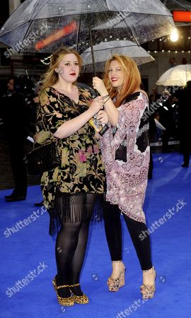 Stock Image of Jane Goldman and daughter Honey Kinny Ross