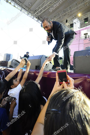Editorial picture of Francisco Cespedes in concert in Queretaro, Mexico - 11 May 2014
