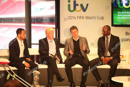 Andros Townsend, Gordon Strachan, Andy Townsend and Patrick Vieira