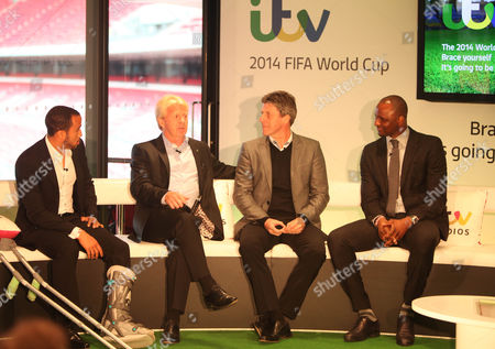 Andros Townsend, Gordan Strachan, Andy Townsend and Patrick Vieira