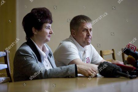 Stock Image of Self-proclaimed Mayor of Sloviansk Vyacheslav Ponomarev