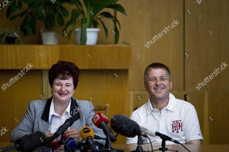 Editorial picture of Self-proclaimed Mayor of Sloviansk Viacheslav Ponomariov press conference on referendum, Sloviansk, Ukraine - 12 May 2014