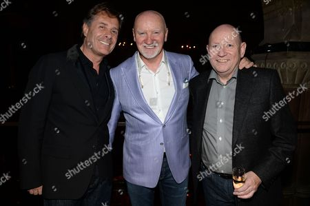 Stock Image of Ian Grabiner, Tom Hunter and guest