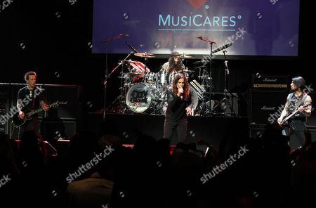 Billy Morrison, Ozzy Osbourne, Tommy Clufetos and Dave Navarro