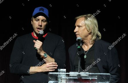 Stock Picture of Dax Shepherd and Joe Walsh