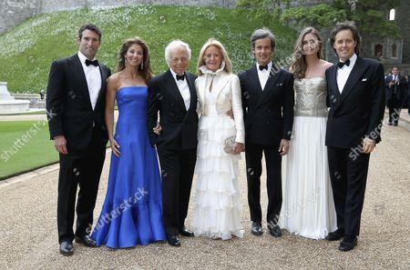 Ralph Lauren, Ricky Anne Loew Beer and members of the Lauren family