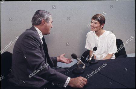 Stock Photo of Glenda Jackson, an Actress. With Leonard Parkin.