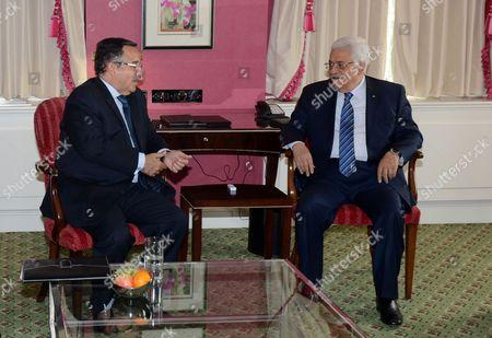 Editorial image of Palestinian President Mahmoud Abbas visit to Downing Street, London, Britain - 14 May 2014