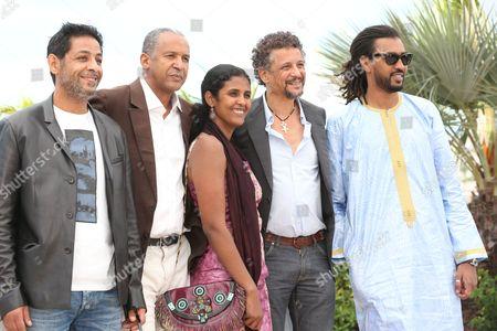 Hichem Yacoubi, Abderrahmane Sissako, Toulou Kiki, Abel Jafri and Ibrahim Ahmed