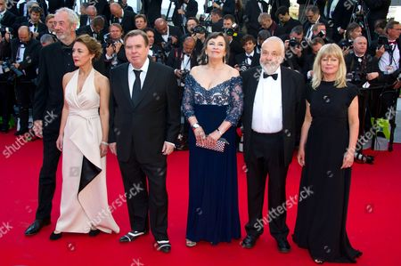 Cast of 'Mr. Turner': director of photography Dick Pope, Dorothy Atkinson, Timothy Spall, Marion Bailey, Mike Leigh and Georgina Lowe