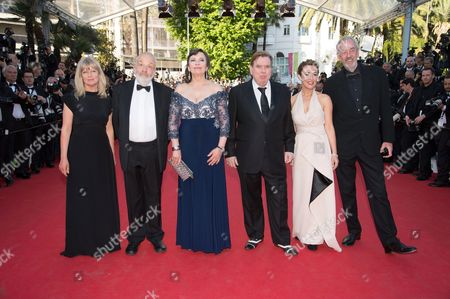 Cast of 'Mr. Turner': Georgina Lowe, Mike Leigh, Marion Bailey, Timothy Spall, Dorothy Atkinson and director of photography Dick Pope