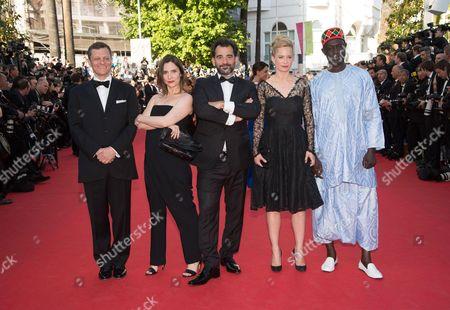 Peter Becker, Geraldine Pailhas, Pablo Trapero, Maria Bonnevie and Moussa Toure