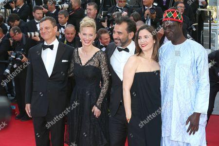 President of the Criterion Collection Peter Becker, Geraldine Pailhas, Pablo Trapero, Maria Bonnevie and Moussa Toure