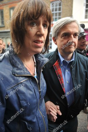 Disgraced Former Mp Chris Huhne Returns To His Central London Home With His Partner Carina Trimingham Hours After His Early Release From Prison.
