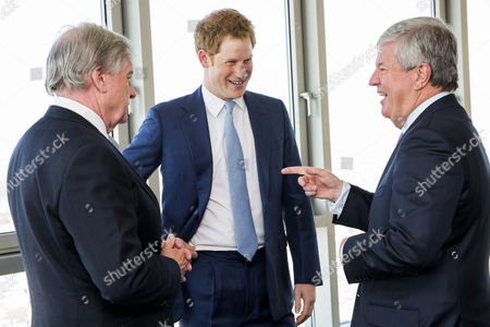 Prince Harry meets Sir Michael Rake, Chairman, BT Group plc and Sir Keith Mills, Chairman of the Invictus Games