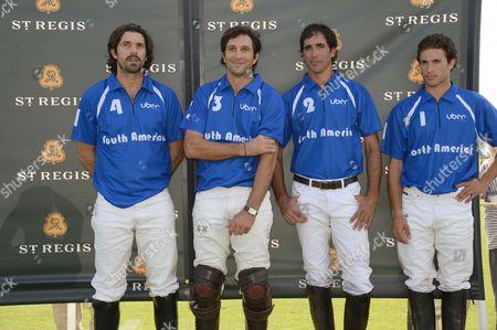 Nacho Figueras, Eduardo Novillo Astrada, Alejandro Novillo Astrada and Guy Gibrat