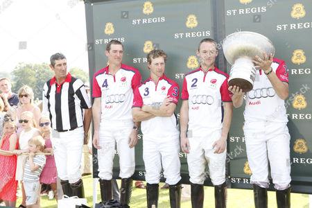 Referee, Luke Tomlinson, James Beim, Mark Tomlinson and Max Charlton