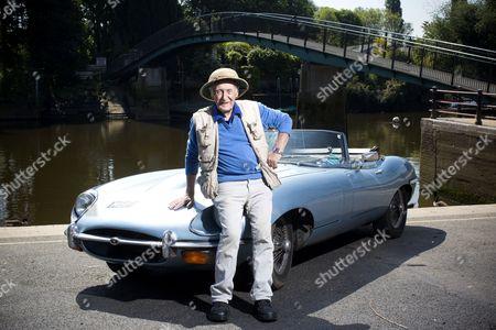 Trevor Baylis with his Jaguar E type