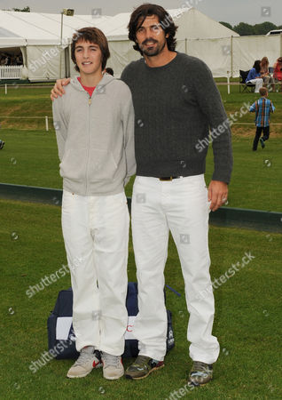 Nacho Figueras with his son Henrique Hilario