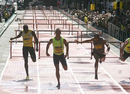 Stock Image of Andy Turner wins the Mens 200m Hurdles