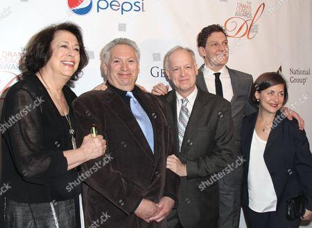Lynne Meadow, Harvey Fierstein, Reed Birney, Gabriel Ebert and Mandy Greenfield