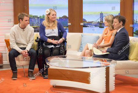 Sophie Morgan with Charlotte Hawkins and Ben Shephard