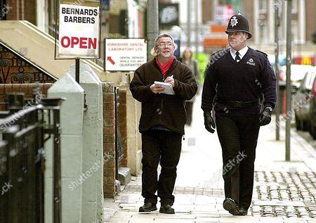 Graham Goodall of Humberside Police with Humberside Police's 'Poet in residence' Ian McMillan