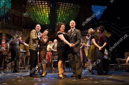 'Fings Ain't Wot they Used T'be' - Mark Arden, Jessie Wallace, Suzie Chard and Gary Kemp (front), with Stefan Booth, Sarah Middleton, John Olohan, Ruth Alfie Adams, Will Barton, Joanna Woodward and Gary Watson (behind)