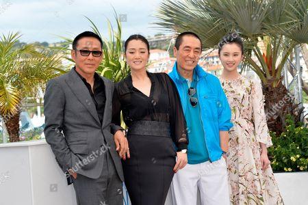 Director Zhang Yimou, Gong Li, Chen Daoming, Zhang Huiwen