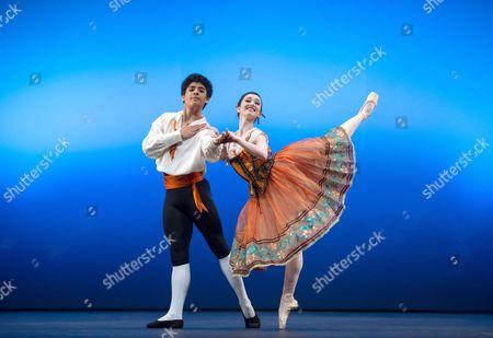 Madison Keesler and Joan Sebastian Zamora in 'Flower Festival'