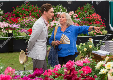 Stock Photo of Benedict Cumberbatch with his mother Wanda Ventham