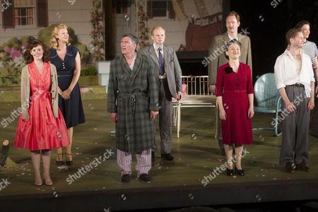 Stock Photo of Amy Nuttall (Ann Deever), Tom Mannion (Joe Keller), Brid Brennan (Kate Keller) and Charles Aitken (Chris Keller)