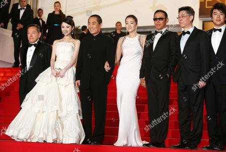 Stock Photo of Zhang Huiwen, Zhang Yimou, Gong Li, Chen Daoming and Zhang Zhao
